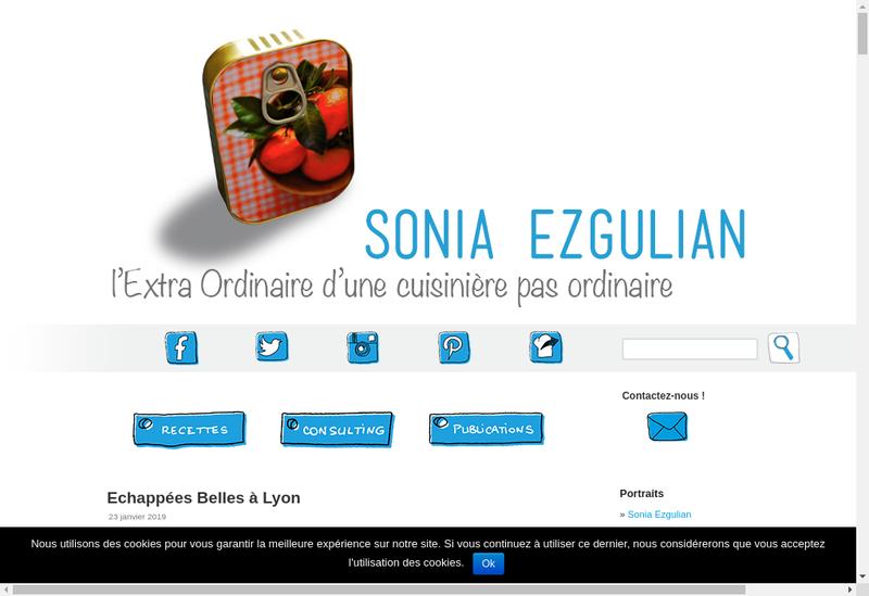 Capture d'écran du site de Les Sardines Filantes