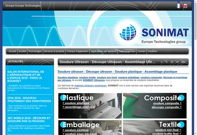 Site internet de Sonimat