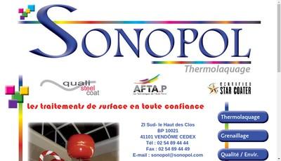 Site internet de Sonopol