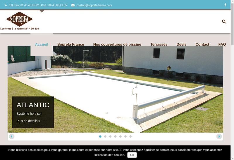 Capture d'écran du site de Soprefa France