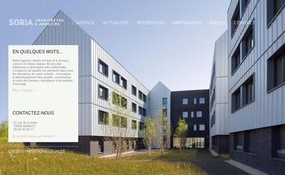 Site internet de Soria - Architectes et Associes