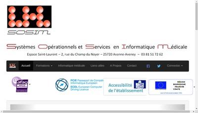 Site internet de Systemes Operationnels et Services en Informatique Medicale SOSIM