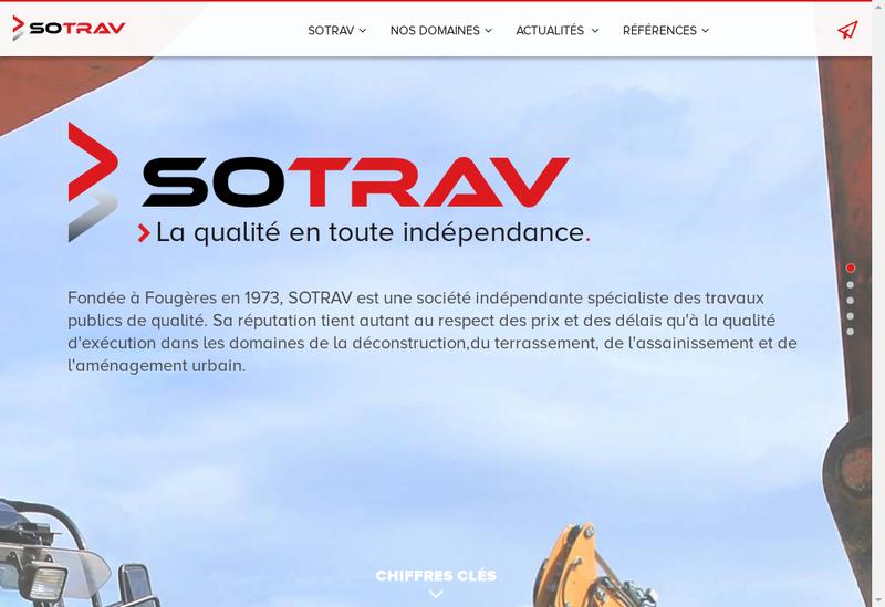 Capture d'écran du site de Sotrav