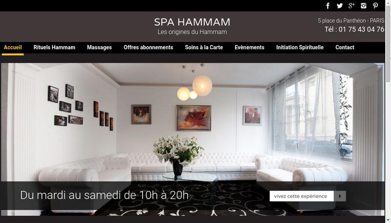 Capture d'écran du site de Spa & Hammam
