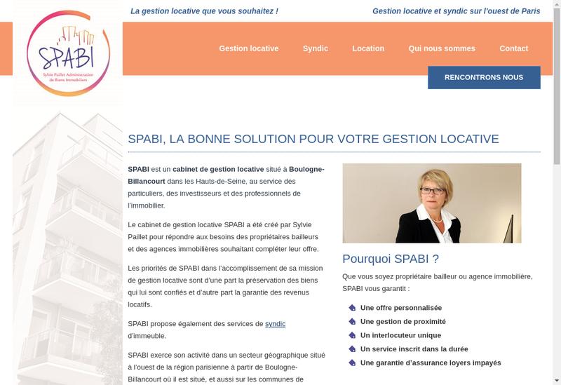 Capture d'écran du site de Spabi