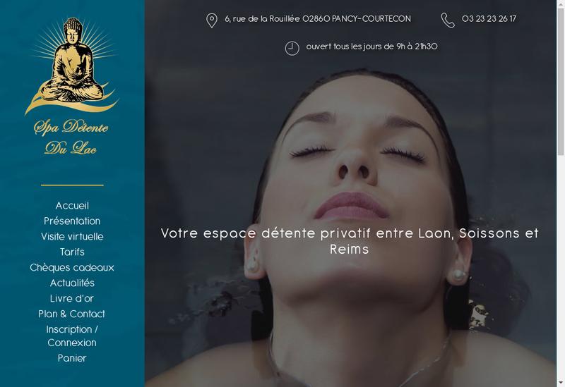 Capture d'écran du site de Spa Detente du Lac
