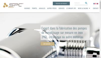 Capture d'écran du site de Spc Group