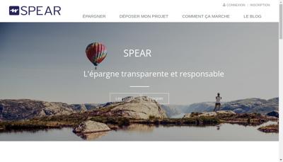 Capture d'écran du site de Spear