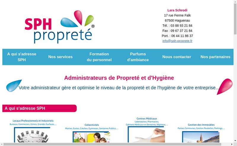 Capture d'écran du site de Sph Proprete