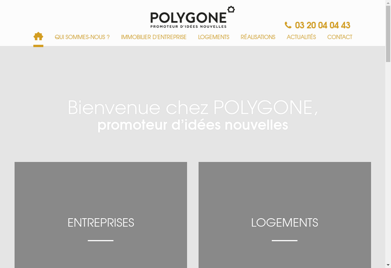 Capture d'écran du site de Spii Polygone