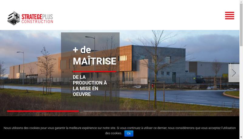 Capture d'écran du site de Stratege Plus Construction