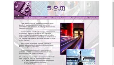 Site internet de SPM Nettoyage