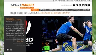 Site internet de Sport Market