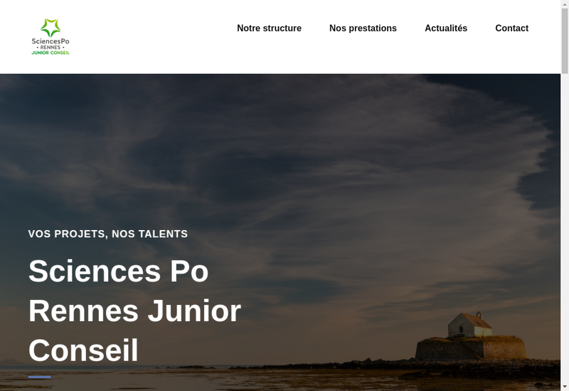 Capture d'écran du site de Sciences Po Rennes Junior Conseil