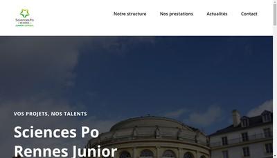 Site internet de Sciences Po Rennes Junior Conseil