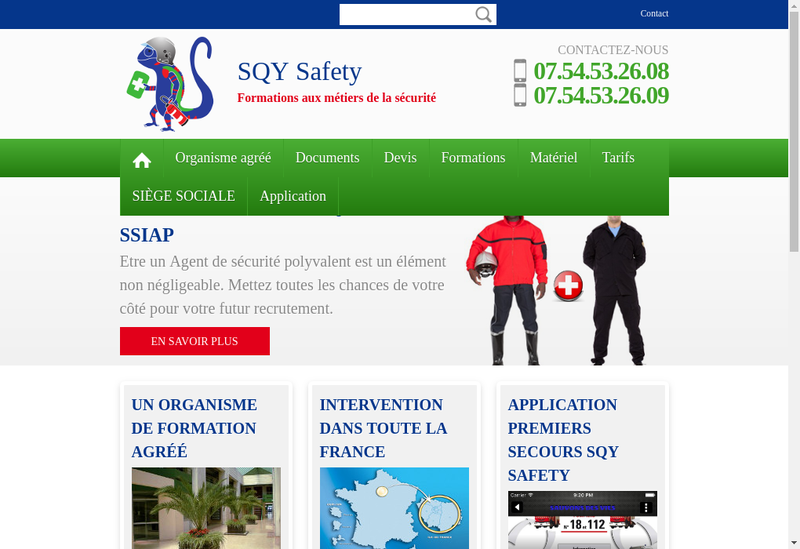 Capture d'écran du site de Ifsg Formations