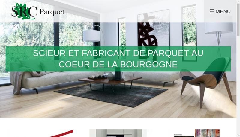 Capture d'écran du site de Les Scieries Reunies du Chalonnais