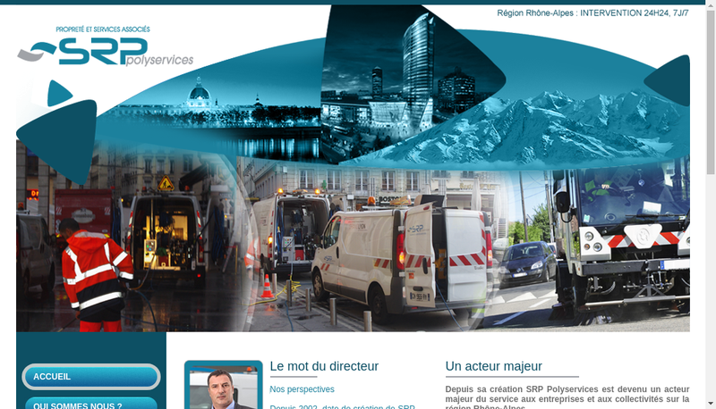 Capture d'écran du site de SRP Polyservices