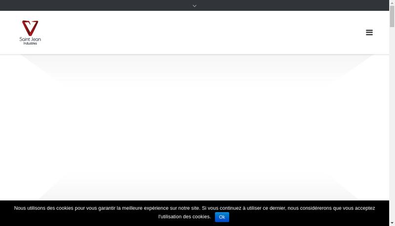 Capture d'écran du site de Saint Jean Industries Poitou