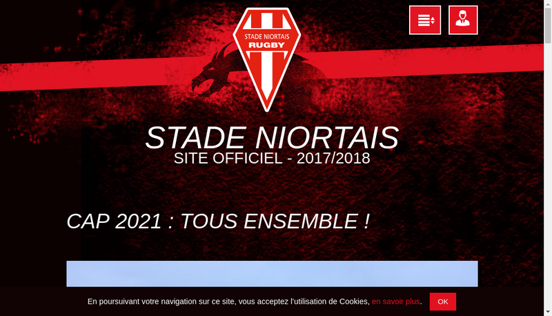 Capture d'écran du site de Agentis Niort