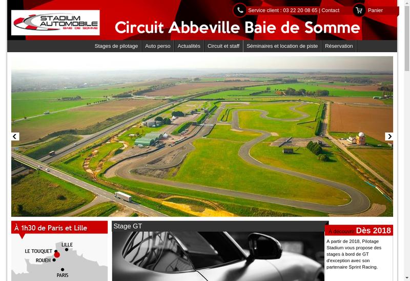 Capture d'écran du site de Pilotage Stadium