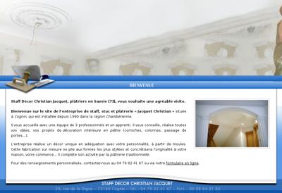 Capture d'écran du site de Staff Decor