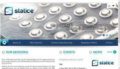 Site internet de Statice Etudes et Developpement Statice R & D Statice Innovation Cap Tech