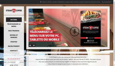 Site internet de Steak'N'Coffee