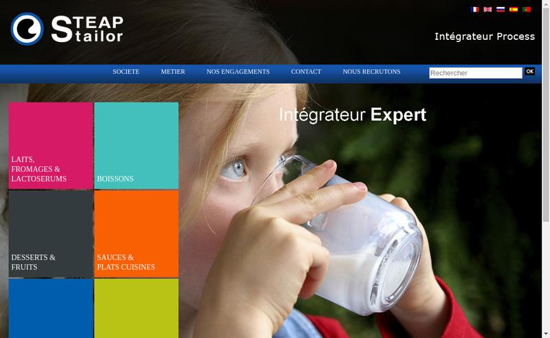 Capture d'écran du site de Steap Stailor