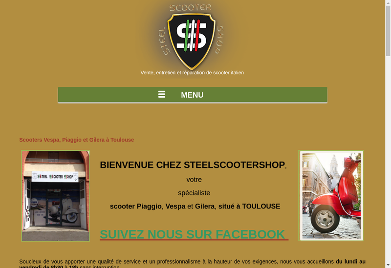 Capture d'écran du site de Steelscootershop