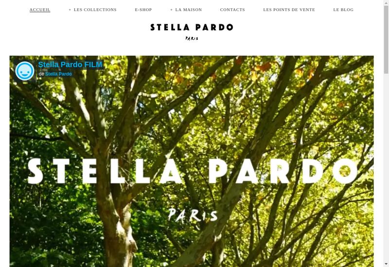 Capture d'écran du site de Stella Pardo