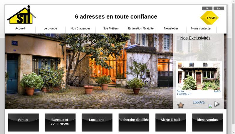 Capture d'écran du site de Sti Montparnasse
