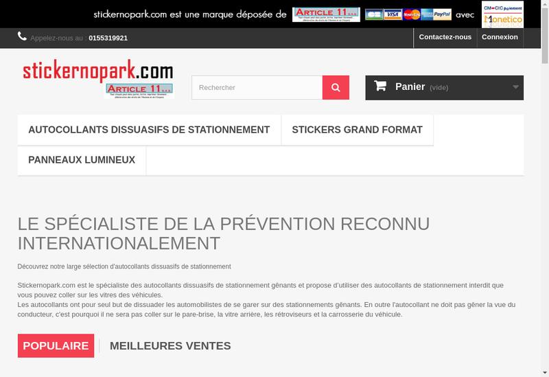Capture d'écran du site de Article 11