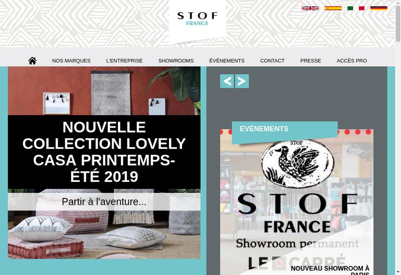 Capture d'écran du site de STOF