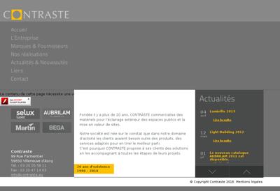 Capture d'écran du site de Stores System