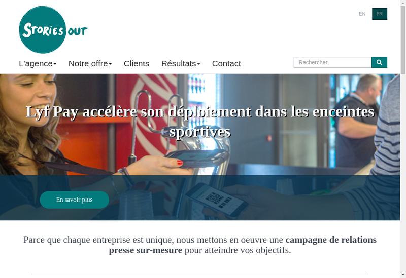Capture d'écran du site de StoriesOut