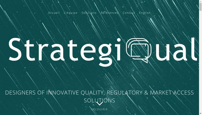 Capture d'écran du site de Strategiqual