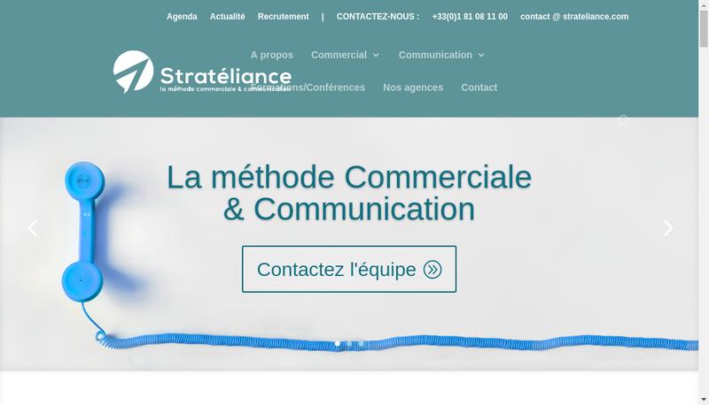 Capture d'écran du site de Stratéliance