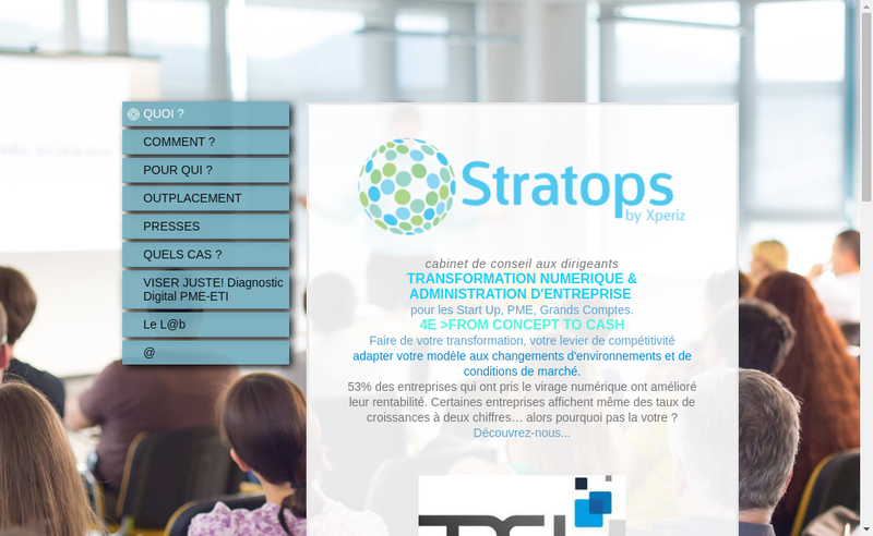 Capture d'écran du site de Xperiz , Xperiz Strategie