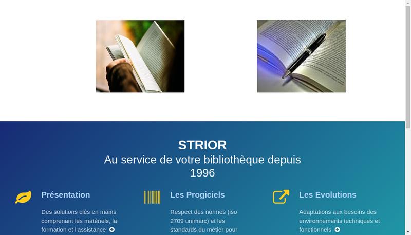 Capture d'écran du site de Strior