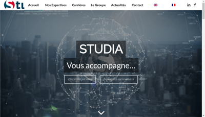 Capture d'écran du site de Studia