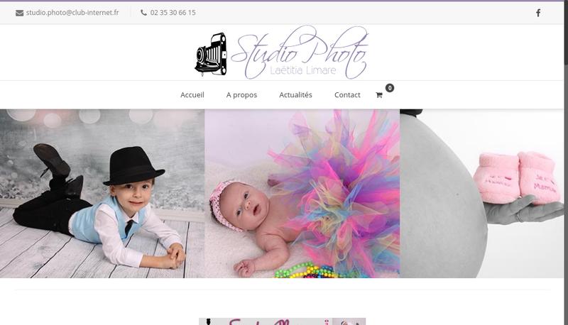 Capture d'écran du site de Studio Photo Laetitia Limare