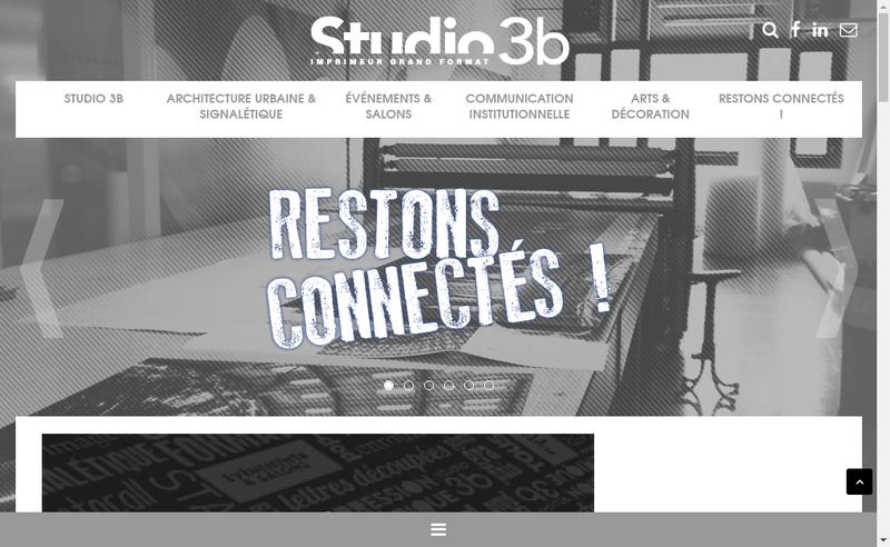 Capture d'écran du site de Studio 3B