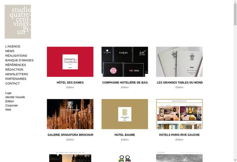 Capture d'écran du site de Studio 421