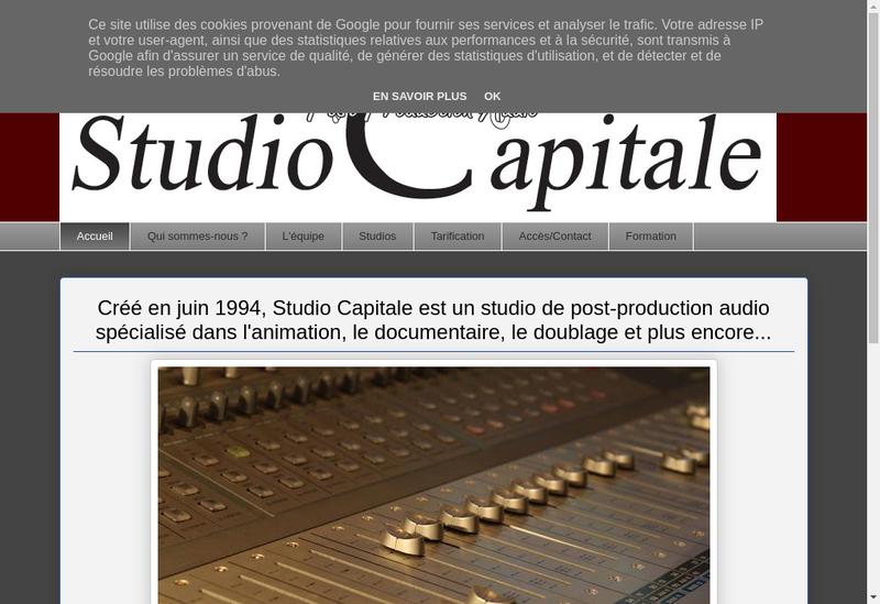 Capture d'écran du site de Studio Capitale