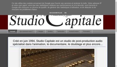 Site internet de Studio Capitale