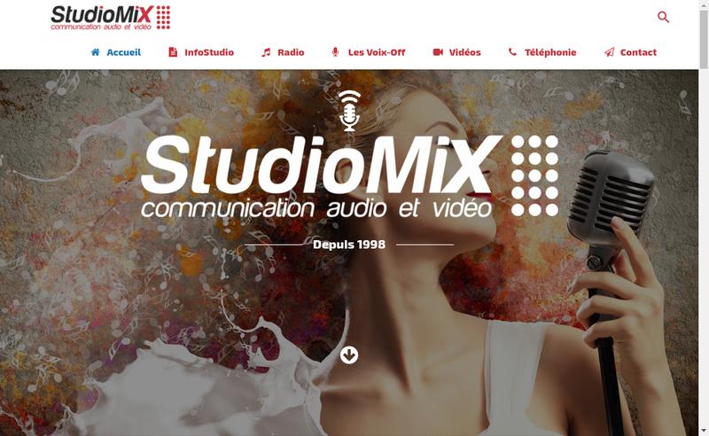 Capture d'écran du site de Studio Mix
