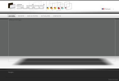Capture d'écran du site de Sudco