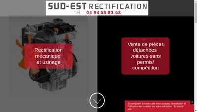 Site internet de Sud Est Rectification