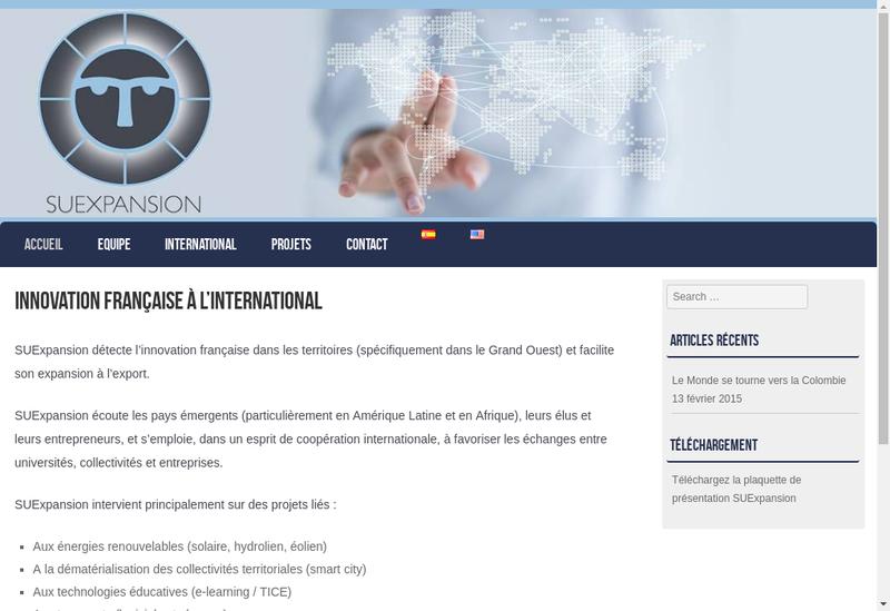 Capture d'écran du site de Suexpansion